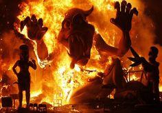 La Cremà - The burning of the Fallas in Valencia