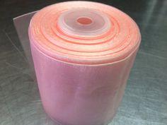 peach sheer organza ribbon 2 1/2 inches x 25 by PetalandForrest