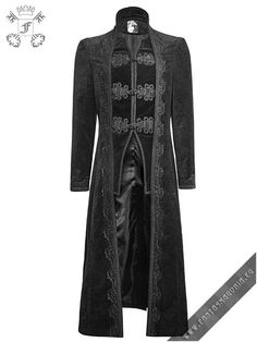 The Targaryen -men's gothic style black coat made by Punkrave. Item Code: Y-651…