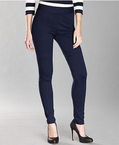 $36.99 INC International Concepts Skinny Ponte-Knit Seamed - Womens INC Pants - Macy's