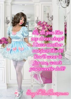 How about this dress sissy?  https://sissykiss.com/image/dress-sissy/  Feel free to share any of my captions anywhere! #sissy #feminization #transgender #captions