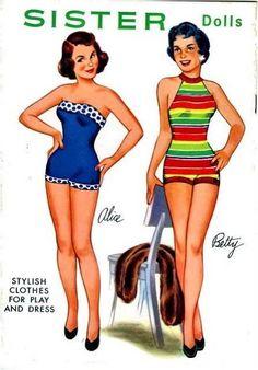 Amarna BILLEDER: påklædningsdukker - Sisters Betty og Alice