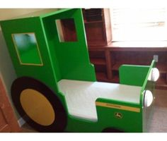 John Deere Tractor Bed....Henry would love this!!