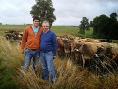 Pablo Coquelet with his son Ignacio. Pablo has a Jersey herd of nearly 600 cows in Chile.
