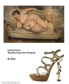 Painting by Lucian Freud, shoes by Dior