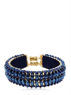 only child london - women - necklaces - blue flash crystal collar