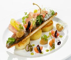 Brittany sea bass fillet, shaved parma ham and lime pesto #recipeoftheweek
