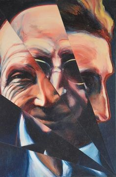 "Saatchi Art Artist David Thomas; Painting, ""Marcel Duchamp Ascending a Staircase 2 "" #art (Woolf)"