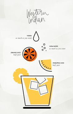 Summer cocktail/mocktails with adorable illustrations!