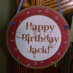 Western Cowboy Birthday Welcome Door Banner by AnyGoodIdeas, $7.00
