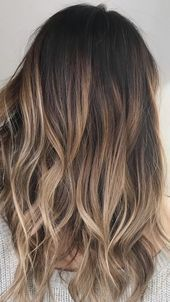 Mar 2020 - Ombre hair color ideas for brunettes are great ways to rock a low maintenance look that doesn't sacrifice style. To stand out from the crowd you can try these colors below. Ombre Hair Color For Brunettes, Brunette Hair With Highlights, Balayage Hair Blonde, Brown Blonde Hair, Hair Ideas For Brunettes, Red Balayage, Haircolor, Black Hair, Medium Brunette Hair