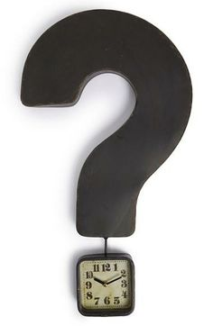 Such a cute clock! | Question mark clock.