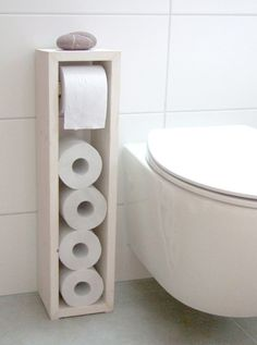 Klopapierhalter - Toilettenpapierhalter, Klopapierhalter - ein Designerstück von KlausHeilmann bei DaWanda