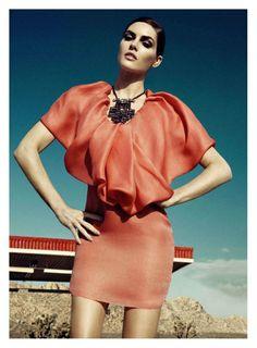 Hilary Rhoda by Lachlan Bailey for Harpers Bazaar US June/July 2011