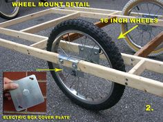 DIY: Free advice on how to fix your bicycle: Big Homebuilt El Cheapo Bicycle Cargo Trailer Bicycle Cart, Bicycle Sidecar, Tricycle Bike, Velo Cargo, Electric Box, Trailer Diy, Trailer Build, Cargo Trailers, Bike Cargo Trailer