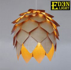 Pinecone Lamp Crimean Wooden Leaf Pendant Light Replica Lighting consists of layers of thin plywood plates recreate tropical feel @ kitchen lounge or dining room