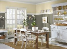 Color Trend ~ Gray  Love this how to get away with a dark color on the walls and still look light