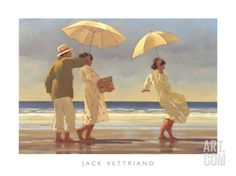 The Picnic Party II Art Print by Jack Vettriano at Art.com