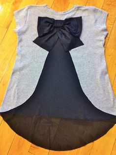 #diy #bow shirt tutorial from an old tshirt. Love this, its super cute and stylish.