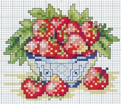 cross stitch chart    (....cr....about 40x50...would make a cute ornament for a summer wooden bowl with other summer pieces....like it...would add a lot of pretty color)