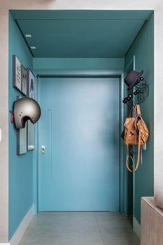 Hall da designer de interiores Melina Romano.