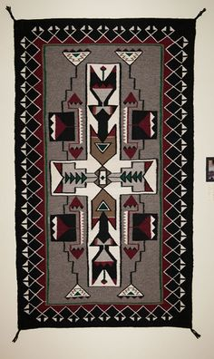 Teec Nos Pos Storm Pattern Navajo Rug For Sale