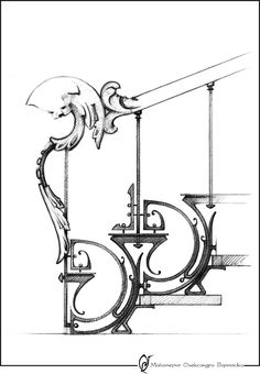 Сашко Бартосік: Перила.Балюстради.Кронштейни.Консолі Motif Art Deco, Art Nouveau Design, Art Nouveau Architecture, Architecture Details, Game Design, Design Art, Iron Stair Railing, Railings, Railing Design