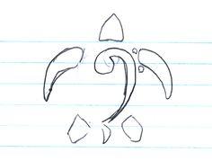 ... Turtle Tattoo Design  Simple Turtle Outline  Simple Turtle Drawing Pen Tattoo, Tattoo Outline, Turtle Outline, Turtle Tattoo Designs, Simple Designs, Tattoo Ideas, Carving, Tattoos, Drawings