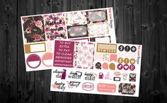 This listing includes 2 sheets of planner stickers. There are a total of 58 stickers!  ALL STICKERS ARE READY TO SHIP!!  These stickers are removable and repositionable and are printed on high quality matte or glossy sticker paper. The stickers are kiss cut for easy peel and stick application.  ******Introducing THURSDAY THREE!! Every Thursday we are offering an amazing deal! For every 3 sticker sheets you purchase, you get 1 free SINGLE sticker sheet of your choice! Free sticker sheet…