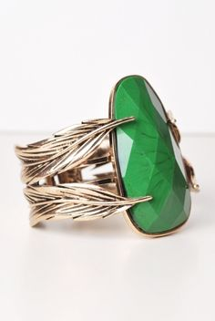 Gorgeous Green Cuff Bracelet