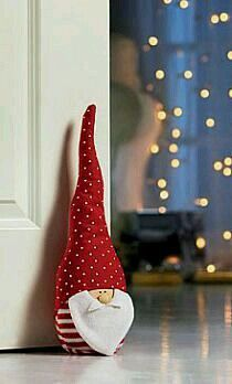 The Christmas gnome in a red hat for home decoration Christmas Gnome, Christmas Sewing, Christmas Makes, Christmas Projects, All Things Christmas, Christmas Stockings, Christmas Holidays, Christmas Door, Felt Ornaments