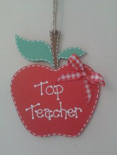 Teacher Plaque £5 collected, £7 posted Teacher Thank You, Teacher Gifts, Christmas Birthday, Birthday Gifts, Clay Projects, Projects To Try, Presents For Teachers, Baby Frame, Dry Clay
