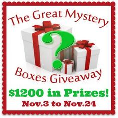 The Great Mystery Boxes Giveaway! Canadians Only!