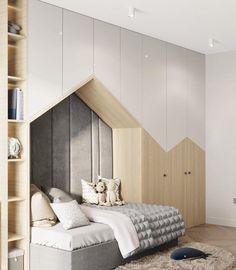 Project Wood Children's room – Home Decoration Kids Bedroom Designs, Kids Room Design, Baby Room Decor, Bedroom Decor, Teenage Room, Suites, New Room, Girl Room, Interior Design