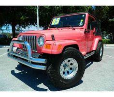 pink jeep wrangler <3