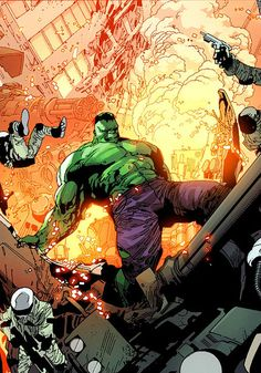 Hulk (Dr. Bruce Banner) (Savage Hulk persona) | art by Leinil Yu