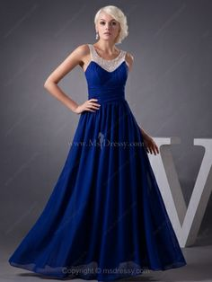 Regal Pleated Chiffon Prom Dress with Embellished Sheer Straps Brands:AmarantaFreeship:YESModel Name:SabrinaTailoring Time DaysTailoring Time (Rush DaysSilhouette:A-LineNeckline:ScoopSleeve Style:SleevelessWaist:NaturalBack Detail:ZipperHemline:Floor… Party Dresses 2014, Prom Dress 2013, Homecoming Dresses Long, Bridesmaid Dresses, Wedding Dresses, Prom Gowns, Royal Blue Evening Dress, A Line Evening Dress, Evening Dresses Plus Size