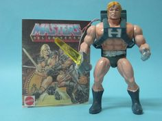 Laser Power He-Man with Dolph Lundgren Head Scuplt! MOTU European Exclusive Only, Extremely Rare, & The Last of 2 in the Gen 1 Toyline! He Man Figures, Robot Voice, Dolph Lundgren, Old School Toys, Star Wars Droids, Live Action Movie, Blue Color Schemes, Old Toys, New Movies