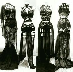 All black lingerie on Artluxe Designs. #artluxedesigns