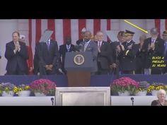 Elvis Presley 81 Ans vivant avec President Obama speaks at Arlington Nat...