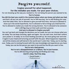 Forgive yourself. Forgive yourself for what happened. For the mistakes you made. For your poor choices. For not showing up the way Wisdom Quotes, True Quotes, Words Quotes, Wise Words, Quotes To Live By, Motivational Quotes, Inspirational Quotes, Fact Quotes, Smile Quotes