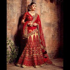 http://www.lalgulal.com/lehenga-choli/red-beige-with-heavy-diamond-thread-work-bridal-lehenga-choli-949