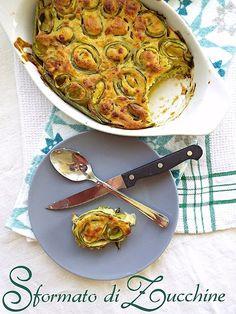 Sformato di zucchine, pecorino e timo