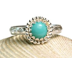 Sterling Silver Sleeping Beauty Turquoise Ring Solid 925