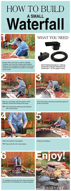 How to Build a Small Waterfall! #TotalPond #diy #howto #waterfall