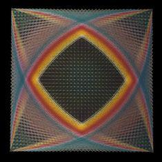 String Art Parabolic Square String Mandala