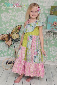 Corinna's+One+shoulder+tiered+twirly+dress
