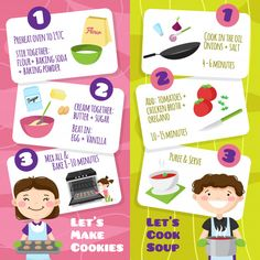 Kids cooking vertical banners set with flat cartoon style teenager characters and cards with cooking tips vector illustration Vintage Grunge, Cartoon Images, Cartoon Styles, Cooking With Kids, Cooking Tips, Adobe Illustrator, Healthy And Unhealthy Food, Web Social, Banners