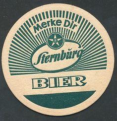 """Bierdeckel """"Merke Dir Sternburg Bier"""" - dieser Schatz wurde von strahler 60 gepinnt! Sternburg im #Vintage Style"""
