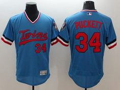 5f5f1c6d9c0 Twins #34 Kirby Puckett Light Blue Flexbase Authentic Collection  Cooperstown Stitched MLB Jersey Cheap Nba